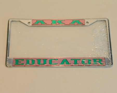 Aka Educator License Plate Frame