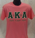 Alpha Kappa Alpha Embroidered Pink Tee