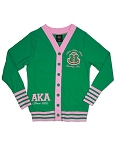 Alpha Kappa Alpha Lightweight Green Cardigan