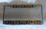 Alpha Phi Alpha Mirrored License Frame with Name