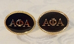 Alpha Oval Greek Letter Cuff Links
