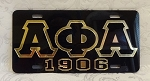 Alpha Phi Alpha  Mirrored License Plate - Blk