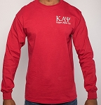 Kappa Alpha Psi Embroidered Long Sleeve Tee - Krimson