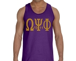 Omega Psi Phi  Tank with Greek letters and year