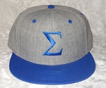 Sigma Embroidered Snapback Cap