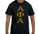 Alpha Phi Alpha Tee with vertical Greek letters