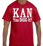 Kappa Alpha Psi KAN Tee in Krimson or White