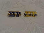 Sigma Gamma Rho Greek Letter Color Pin-Blue/Gold