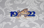 SGRho Poodle and Year Fashion Pin