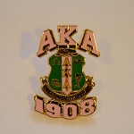Alpha Kappa Alpha 3D Accent Pin