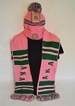 Alpha Kappa Alpha Beanie and Scarf Set