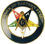 Order of Eastern Star Car Round Emblem