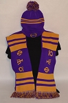 Omega Psi Phi Scarf and Beanie Set