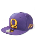 Omega Psi Phi Snap Back Cap with Greek Letter