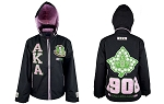 Alpha Kappa Alpha Windbreaker with Hood in Black or Pink