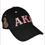 Alpha Kappa Alpha Embroidered Baseball Cap With Greek Letters