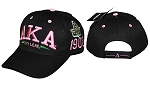 Alpha Kappa Alpha Embroidered Baseball Cap in Black or Pink