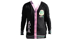 Alpha Kappa Alpha Lightweight Black, Pink and Green Cardigan