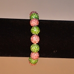 Alpha Kappa Alpha Pink and Green Bracelet