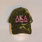 Alpha Kappa Alpha Camouflage Cap With Greek Letters