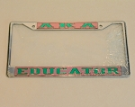 Alpha Kappa Alpha Mirrored License Frame - Educator
