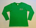 Alpha Kappa Alpha Embroidered Long Sleeve Tee - Green