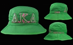 Alpha Kappa Alpha Green and Pink Bucket Hat
