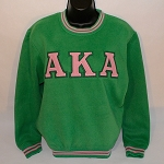 Alpha Kappa Alpha Embroidered Crew Neck - 2 colors
