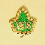 Alpha Kappa Alpha Ivy Fashion Pin with Founding Year