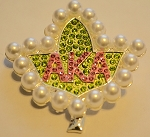 Alpha Kappa Alpha Ivy Fashion Pin with Pearls