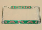 Alpha Kappa Alpha Mirrored License Frame with Letters & Ivy