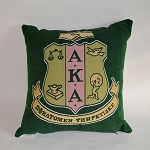AKA Tapestry Pillow with Crest