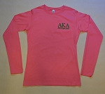 Alpha Kappa Alpha Embroidered Long Sleeve Tee - Pink