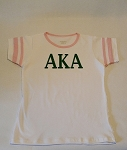 AKA Ringer Tee with Greek Letters