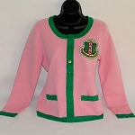 Alpha Kappa Alpha Pink and Green Cardigan