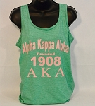 Alpha Kappa Alpha Racerback Tank with Sorority Name - Year and Letters