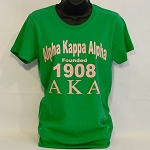 Alpha Kappa Alpha Tee with Sorority Name Letters and Year