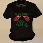 Alpha Kappa Alpha This Girl Loves Tee