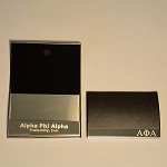 Alpha Laser Engraved Business Card Holder