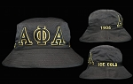 Alpha Phi Alpha Embroidered Bucket Hat - Black and Gold