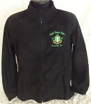 Alpha Kappa Alpha Black embroidered Fleece Jacket