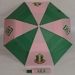 Alpha Kappa Alpha Vented Folding Umbrella