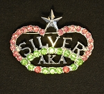 Alpha Kappa Alpha Silver Star Fashion Pin