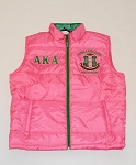 Alpha Kappa Alpha Pink Vest with embroidery