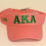 Alpha Kappa Alpha Visor with Embroidered Greek Letters