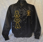 Alpha Phi Alpha Satin Baseball Jacket