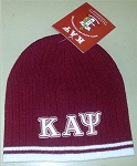 Kappa Krimson Beanie with Greek Letters