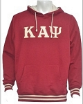 Kappa Hoodie Krimson with Embroidered letters