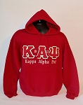 Embroidered Kappa  Hoodie - Krimson and Kream