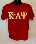 Kappa Krimson Tee with Letters and Year